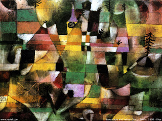 Klee-Landscape-and-the-yellow-church-tower