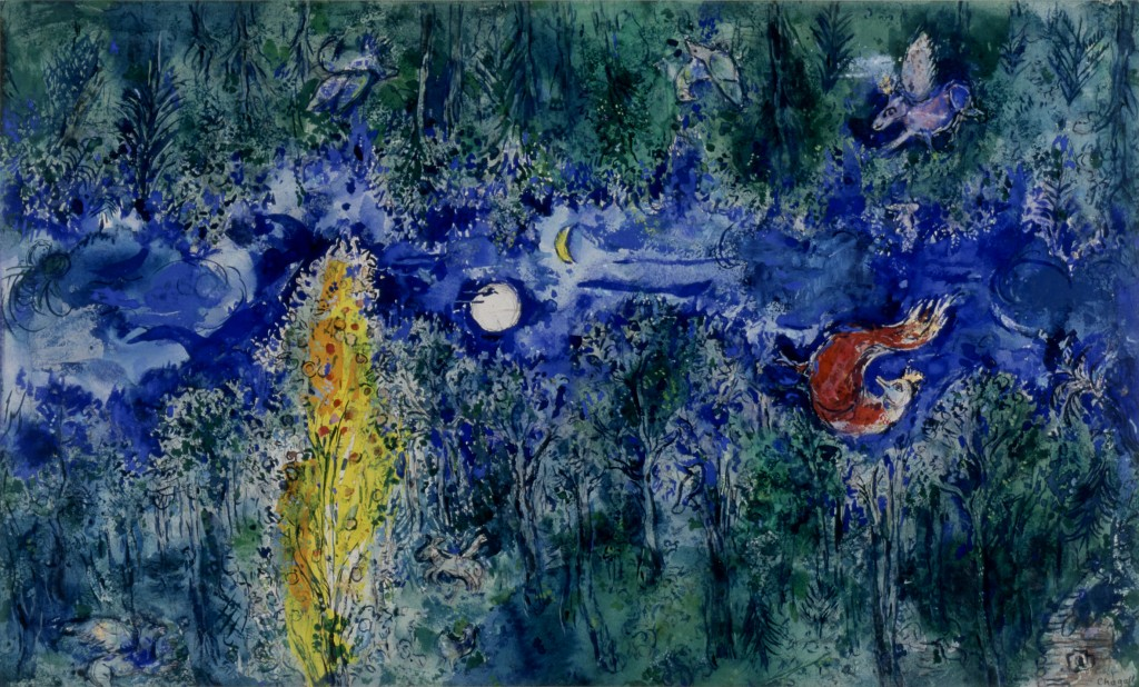 Model-for-the-curtain-in-the-first-act-of-The-Firebird_Chagall