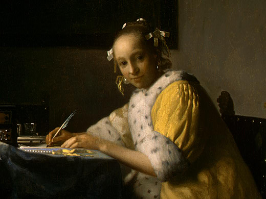 VERMEER-A-LADY-WRITING-DETALJ-1-NGW